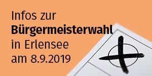 Bild eines Stimmzettels bezüglich der Bürgermeisterwahl in Erlensee am 8.9.2019