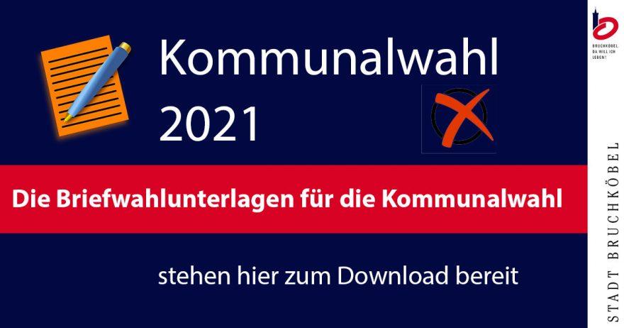 Briefwahl Kommunalwahl 2021